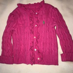 Ralph Lauren Polo Sweater Cable Knit Cardigan